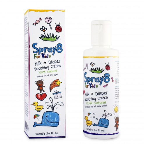 spray8 for kids milk diaper nappy rash soothing cream